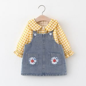 floral dungaree tops